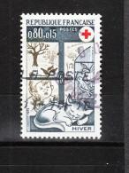 Francia   1974.  Pro Croce Rossa. Inverno. Gattino. Little Cat. Pro Red Cross. Winter. - Croce Rossa
