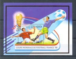 Mtw094 SPORT WK VOETBAL SOCCER WORLD CHAMPIONSHIP FOOTBALL FUSSBALL WELTMEISTERSCHAFT BENIN 1997 PF/MNH - Soccer