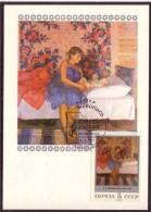 USSR Russia PAINTING V.V.Shcherbakov Maximum Card Russia 1987 #2608 - Tarjetas Máxima