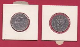 NEDERLAND, 1967, VF Coin, 1 Gulden, Queen Juliana, Nickel , KM 184a C9212 - [ 3] 1815-… : Kingdom Of The Netherlands