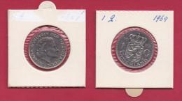 NEDERLAND, 1969, VF Coin, 1 Gulden, Queen Juliana, Nickel , FISH,  C9213 - [ 3] 1815-… : Kingdom Of The Netherlands