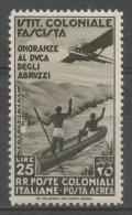 Regno Colonie Emissioni Generali 1934 - Onoranze Al Duca Degli Abruzzi Posta Aerea MH * - Emissioni Generali
