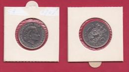 NEDERLAND, 1968, VF Coin, 1 Gulden, Queen Juliana, Nickel ,  C9214 - [ 3] 1815-… : Kingdom Of The Netherlands