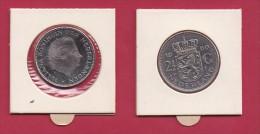 NEDERLAND, 1969, VF Coin, 1 Gulden, Queen Juliana, Nickel ,  COCK, C9240, - [ 3] 1815-… : Kingdom Of The Netherlands