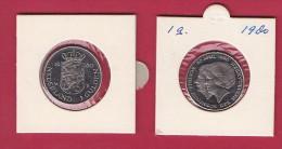 NEDERLAND, 1980, XF Coin, 1 Gulden, Juliana Investiture Queen Beatrix, Almost Proof ,  C9228, - [ 3] 1815-… : Kingdom Of The Netherlands