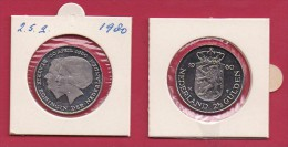 NEDERLAND, 1980, XF Coin, 2,5 Gulden, Juliana Investiture Queen Beatrix, Almost Proof ,  C9231, - [ 3] 1815-… : Kingdom Of The Netherlands