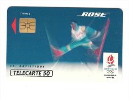 Télécarte  Sports  J.O  ALBERTVILLE  92? F 219, BOSE  Ski  Artistique, 50 U, Côte  18 €, 111 000  Ex - 1991