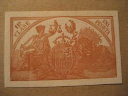 Una Peseta Tasa Poliza Fiscal Oficial Official Revenue Stamp Tax Due Spain España - Revenue Stamps