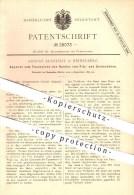 Original Patent - August Allstädt In Heidelberg , 1883 , Façonnieren Am Filzhut , Seidenhut , Hut , Hüte , Modist !!! - Documents Historiques