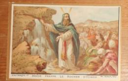 Chromo Sans Pub. Moïse Frappe Le Rocher D'Horeb. - Autres
