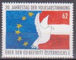 """Österreich 2014: """"20 Jahre Volksabstimmung EU-Beitritt""""    Postfrisch (siehe Foto/Scan) - 1945-.... 2ème République"""