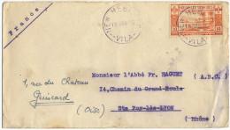1945 NOUVELLES HEBRIDES LETTRE PAR VOIE DE SURFACE DE VILA POUR LA FRANCE - Brieven En Documenten