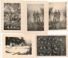 Foto/Photo. Militaria. Soldats/Militaires. A Situer. Lot De 5 Photos. - Guerre, Militaire