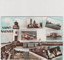 CPM - SAINT-NAZAIRE - Multivues - Le Phare ,bateau A Quai ,le Port Et Les Chantiers ,la Plage ,villes Martin - Saint Nazaire