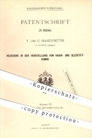 Original Patent - L. Und C. Hardtmuth In Budweis , Böhmen , 1879 , Herstellung Von Radiergummi , Bleistiftgummi , Gummi - Schreibgerät