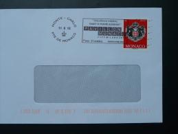 11/08/2015 Nourrir Le Monde Flamme Monaco Sur Lettre Postmark On Cover - Poststempel