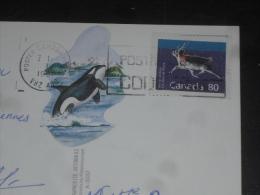 LETTRE CANADA AVEC YT 1172 - CARIBOU - ORQUE ORCA LION DE MER COLOMBIE BRITANNIQUE - - 1952-.... Regno Di Elizabeth II