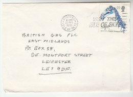 1991 Portree  GB  COVER DINOSAUR Stamps SLOGAN Pmk VISIT THE ISLE OF SKYE - Stamps