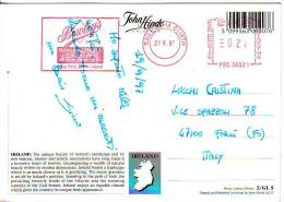 """Irlanda   Annullo Rosso EMA """" Pubblicità Val 28 """" Su Cartolina  Paesaggio - 1949-... Repubblica D'Irlanda"""