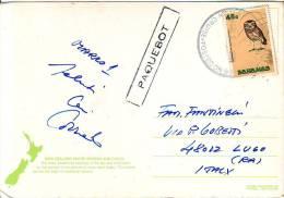 "Bahamas Francobollo (E) "" Uccello Smooth Billed  Ani Val 45 ""annullo Nave Cruise Posted Su Cartolina New Zeeland - Bahamas (1973-...)"