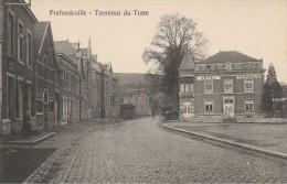 PROFONDEVILLE Terminus Du Tram Hotel Terminus (scan Agrandissement Du Tram) - Profondeville