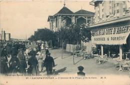 Cpa LACANAU OCEAN 33 L Avenue De La Plage Près La Gare - Hôtel De La Côte D' Argent - France