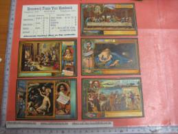 12 Chromo Litho Kaarten, Prijs Vaten & Flessen - Brouwerij Frans Van Hombeeck,Berchem - Reklame, Ganse Reeks Cirka 1910 - Autres