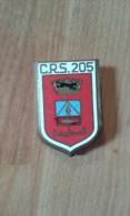 Insignes CRS 205 (Algérie) En émail (original) - Police & Gendarmerie