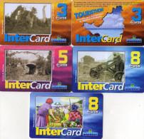 CARTES PREPAYEES DAUPHIN TELECOM SAINT-MARTIN 3e/3e/5e/8e/8e Inter Card  (lot De 5) 0566 - Antilles (Françaises)