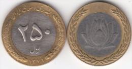 Iran 250 Rials 2000 Bimetallic Km#1262 - Used - Iran