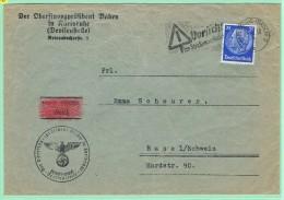 ALL2. Karlsruhe 24.9.38 Strassenverkehr /  Protection Routière + Censure - Germania
