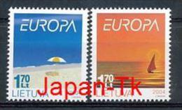 """LITAUEN Mi.Nr. 842-843 EUROPA CEPT """"Ferien """" 2004- MNH - 2004"""