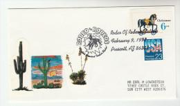 1993 Prescott  ARIZONA ´ RODEO Of RODEOS ´  EVENT COVER USA  Illus CACTUS Label  Stamps Cacti Horse Horses - Horses