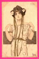 Illustrateur Signé Raphael Kirchner - Femme - 1903 - Lithogr. & Bruck V Meissnner & Buch - Leipzig - Série 99 N° II - Kirchner, Raphael