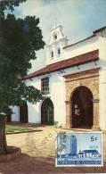 Lote PEP894, Colombia, Postal, Postcard, Tarjeta Maxima, Maximun Card, Bogota, Iglesia De San Diego, 805, Church - Colombia