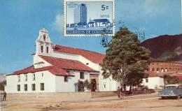Lote PEP895, Colombia, Postal, Postcard, Tarjeta Maxima, Maximun Card, Bogota, Iglesia De San Diego, 808, Church - Colombia