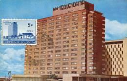 Lote PEP896, Colombia, Postal, Postcard, Tarjeta Maxima, Maximun Card, Bogota, Hotel Tequendama, 113 - Colombia