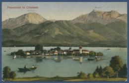 Fraueninsel Im Chiemsee Mit Hochfelln Und Hochgern, Gelaufen 1923 (AK621) - Traunstein