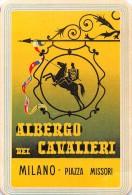 """02312 """"MILANO - ALBERGO DEI CAVALIERI"""" ETIC. ORIG.  -  LUGGAGE LABEL 1955 - Hotel Labels"""