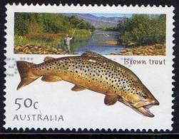 Australia 2003 Fishing - Fish 50c Brown Trout Used - 2000-09 Elizabeth II