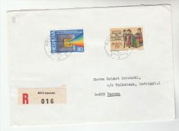 1978 REGISTERED Ascona  SWITZERLAND COVER  Stamps  INTERNATIONAL PHOTOGRAPHY , Etc  To Germany, Film - Switzerland