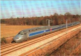 CPM 28 (Eure-et-Loir) Dangeau - 5 Décembre 1989 TGV Atlantique Rame 325 Record Du Monde Sur La Ligne TGV-A (Paris-Tours) - Otros Municipios