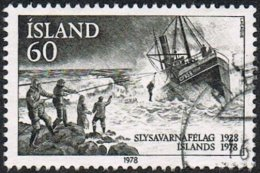Iceland SG567 1978 50th Anniversary Of National Life-Saving Association Of Iceland 60k Good/fine Used - Used Stamps