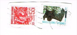Nouvelle Caledonie Timbre Poste Provenant Surcharge Locale YT 665 Cote 5 Euro TB - Luftpost