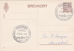 Denmark Postal Stationary 201 P/m Oksbøl - Porten Til Eventyrets Land 17.9.1962 (G77-17) - Dänemark