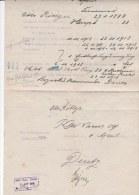 German Document Just After WW1: Bezirkskommando Deutz 5.4.1919 - A Former Soldier In Bergneustadt Requests Money   (G77- - Militaria