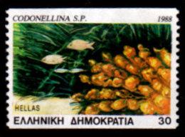 Greece, 1988 Scott #1616, Marine Life, Codonellina, Used, NH, VF - Greece