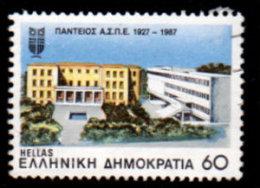 Greece, 1987 Scott #1604, Panteios School Of Political Science, Used, NH, VF - Greece