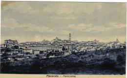 MACERATA PANORAMA VIAGGIATA 1933 INDIRIZZO CANCELLATO COD.C.019 - Macerata