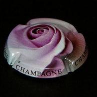 """Plaque De Muselet Champagne, Thème """"fleurs"""" (représente Une Rose)* - Capsules & Plaques De Muselet"""